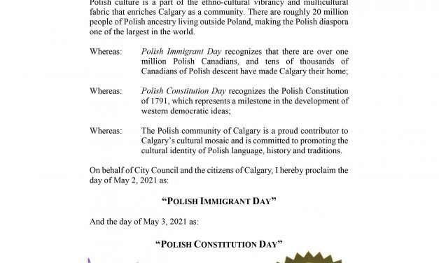 Polish Immigrant Day and Polish Constitution Day in Calgary