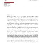 List ministra spraw zagranicznych Zbigniewa Raua